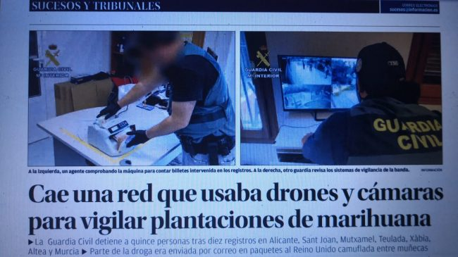 Cae Una Red Que Usaba Drones y Cámaras para Vigilar Plantaciones de Marihuana